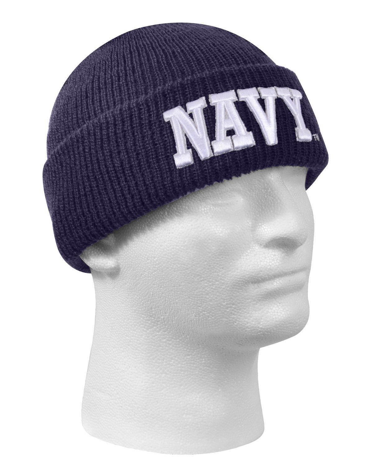 Image of   Rothco Broderet Watch Cap (Blå m. NAVY, One Size)