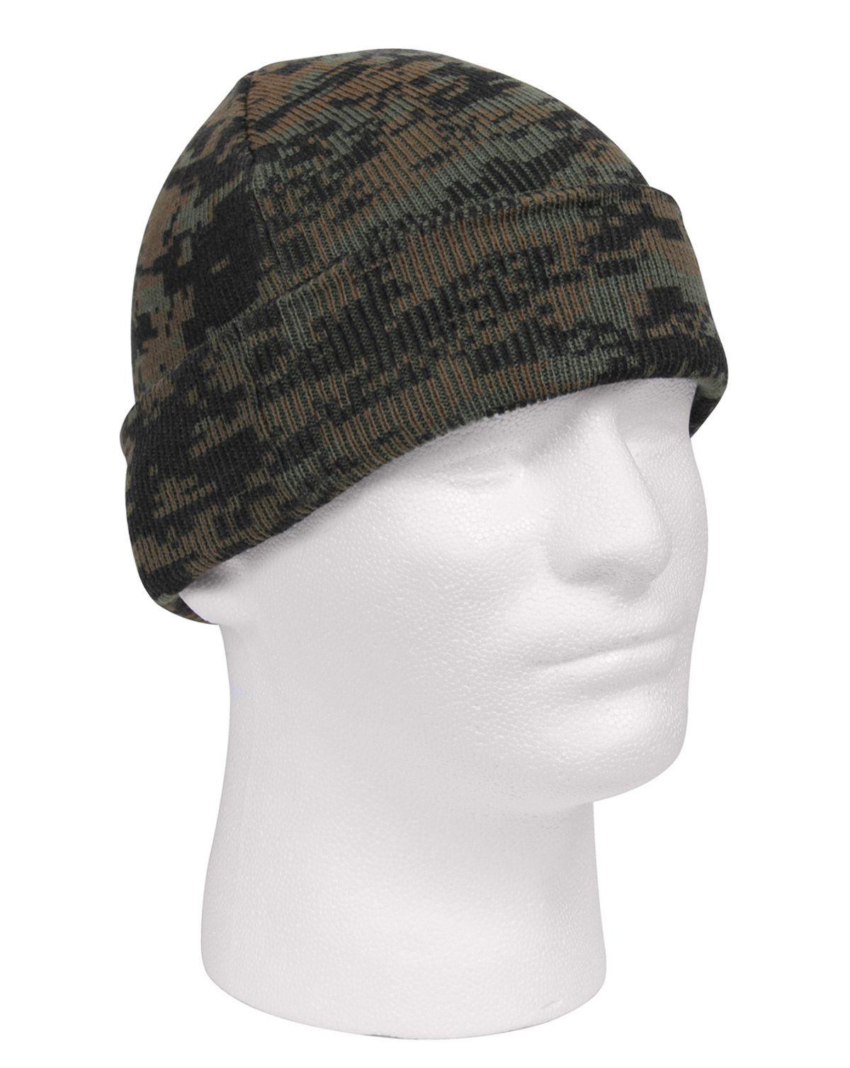 Image of   Rothco Camo Watch Cap (Woodland Digital Camo, One Size)