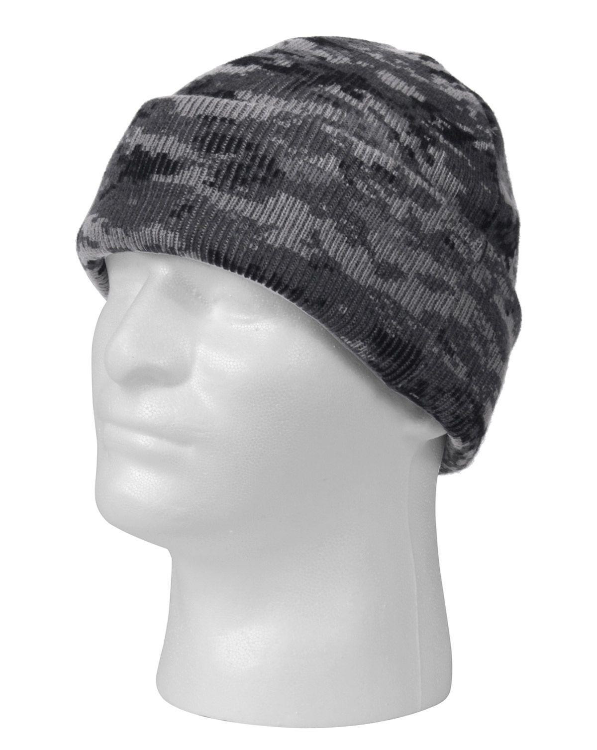 Image of   Rothco Camo Watch Cap (Dæmpet Urban Digital Camo, One Size)
