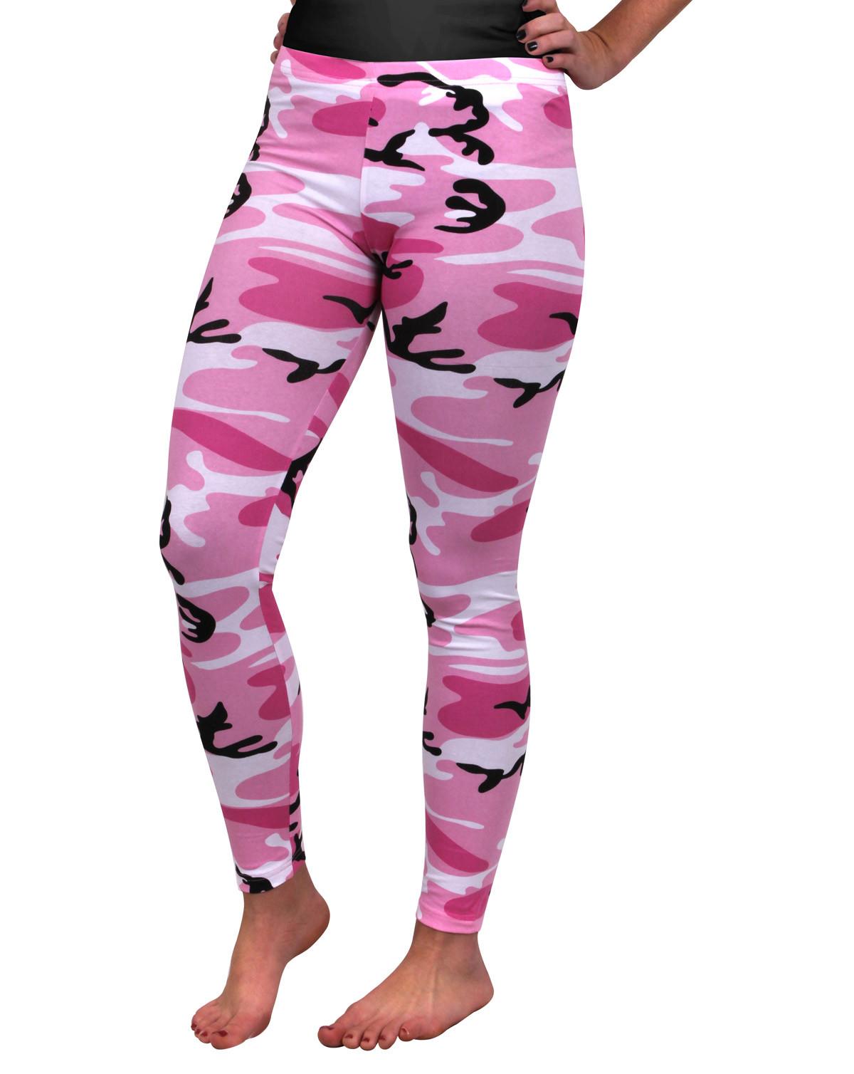 Image of   Rothco Camouflage Leggings (Pink Camo, 2XL)