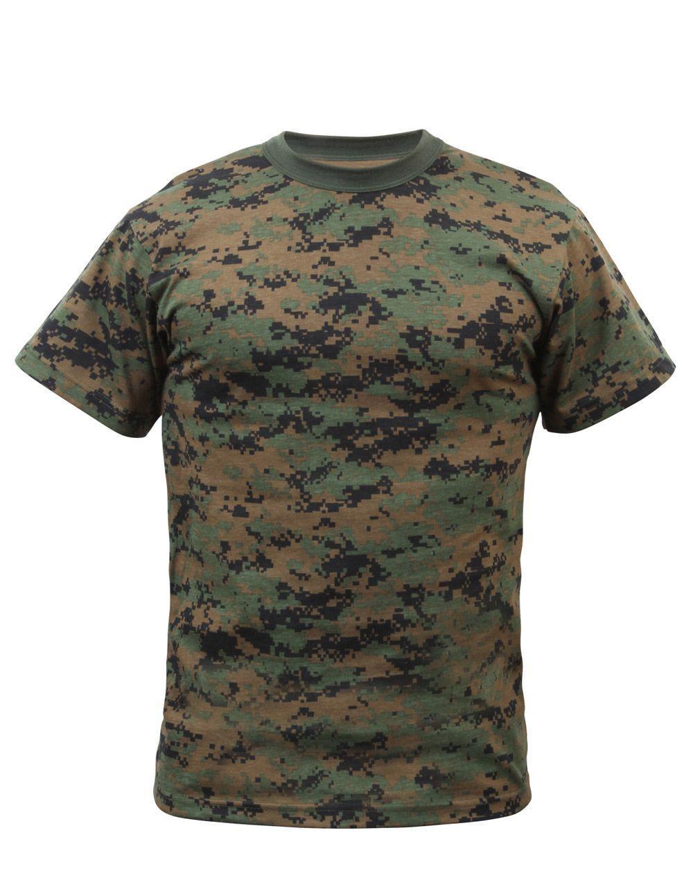 Rothco Kamouflage T-shirts (Digital Woodland, 122-128 / S)