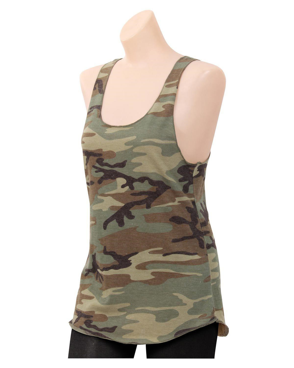 Image of   Rothco Camouflage Tank Top - Racerback (Woodland, L)