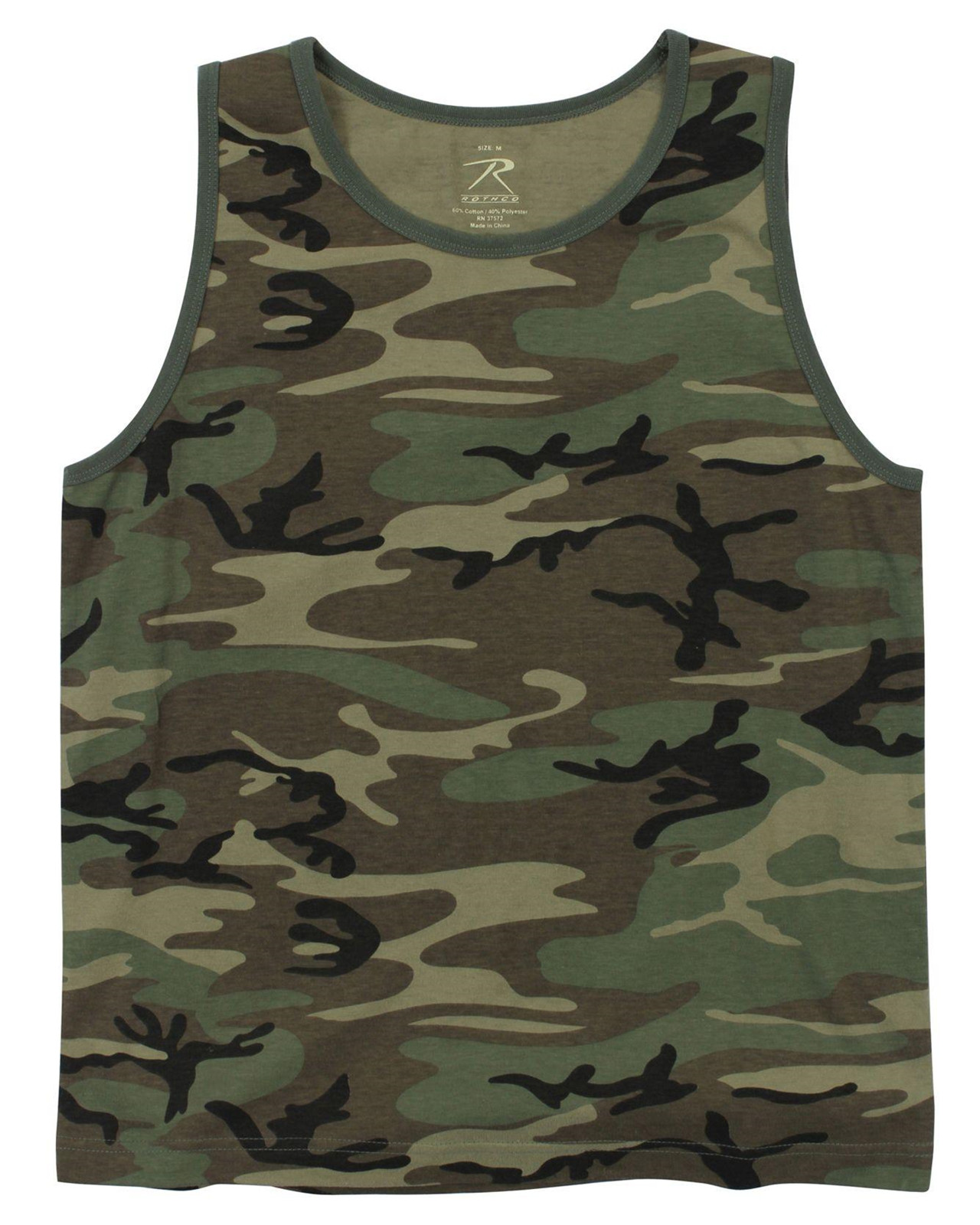 Image of   Rothco Camouflage Tank Top (Woodland, 2XL)
