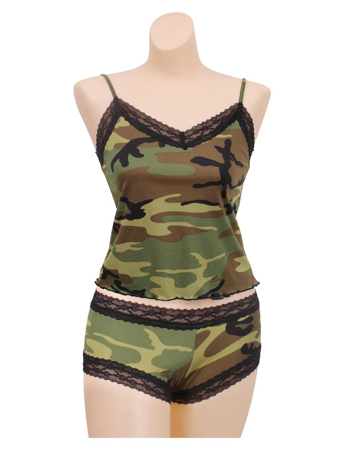 Image of   Rothco Dame Camisole m. blonder (Woodland, 2XL)