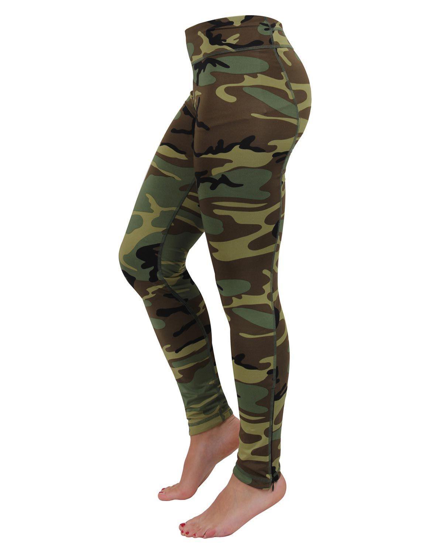 Rothco Dame Performance Leggings (Woodland, XL)