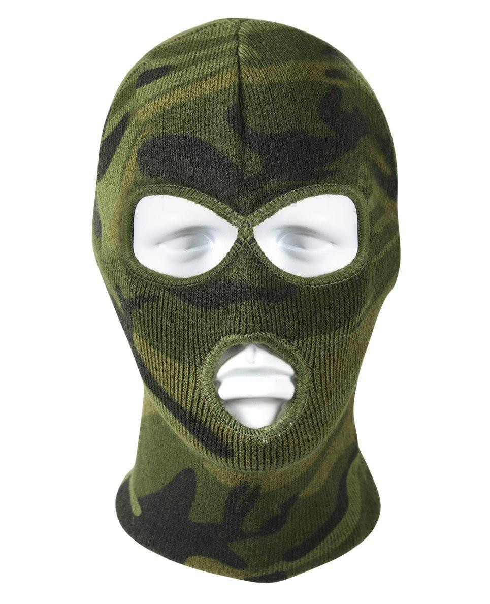 Image of   Rothco Deluxe Balaclava - 3-Hul (Woodland, One Size)