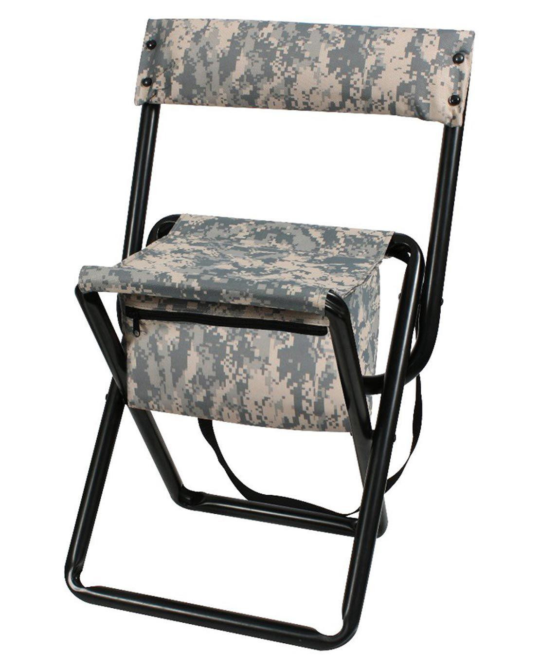 Image of   Rothco Deluxe Foldestol m. Opbevaringsplads (ACU Camo, One Size)