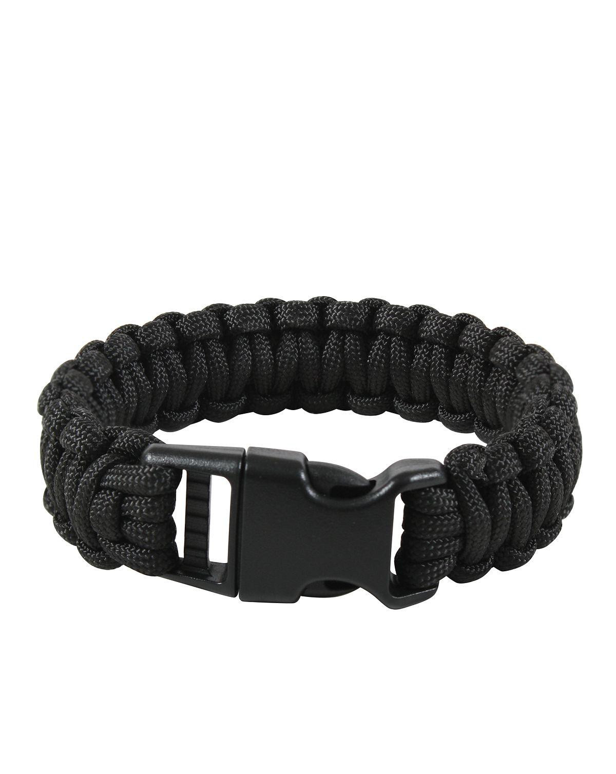 "Image of   Rothco Deluxe Paracord Armbånd (Sort, 7"" / 18 cm)"