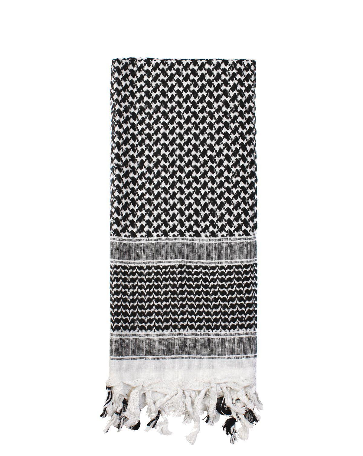 Image of   Rothco Deluxe Partisan Tørklæde (Sort / Hvid, One Size)