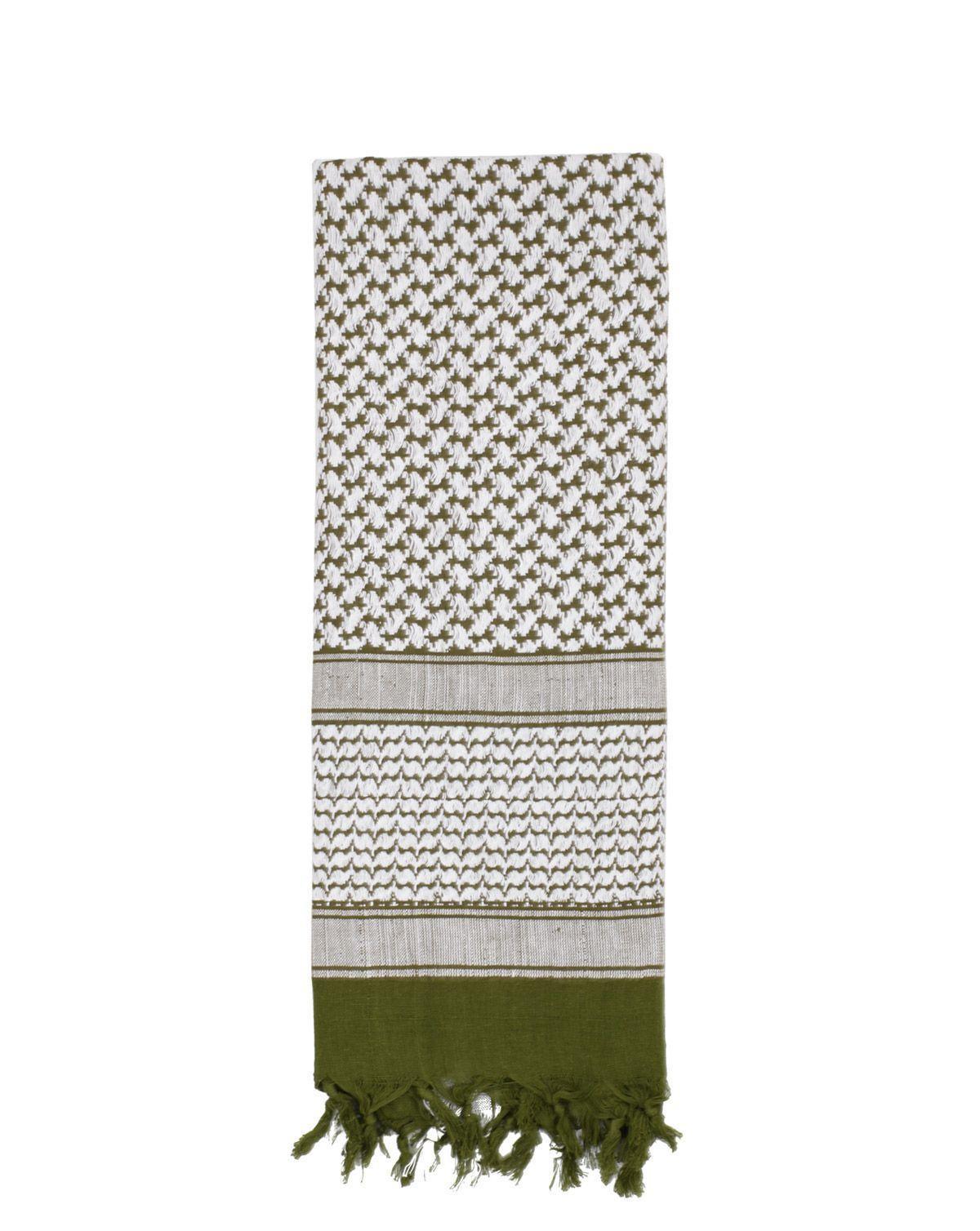 Image of   Rothco Deluxe Partisan Tørklæde (Oliven / Hvid, One Size)