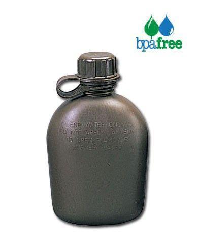 Image of   Rothco Feltflaske - plast, 1 liter (Oliven, One Size)