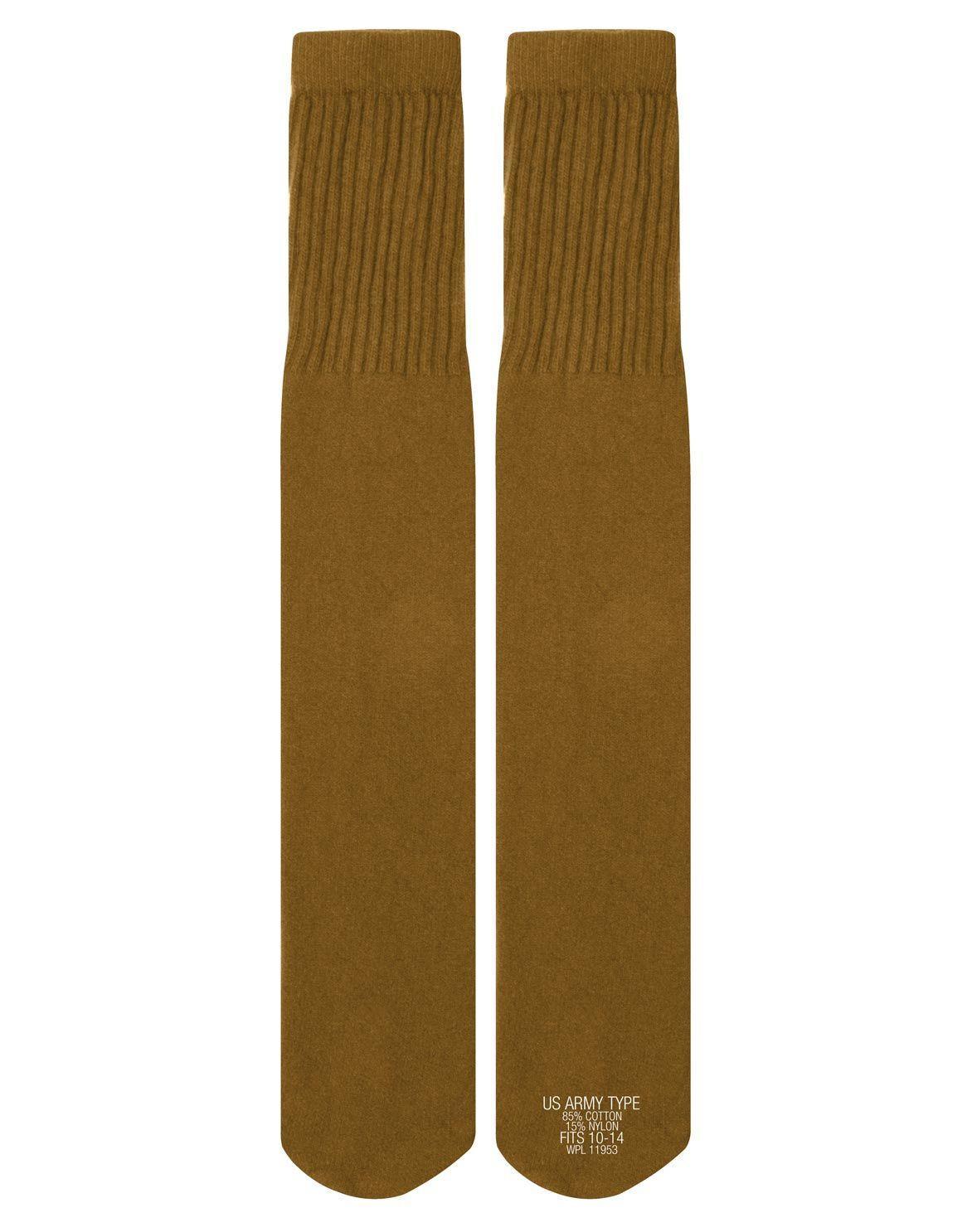 Image of   Rothco G.I. Style Tube Sokker - G.I. Style (Coyote Brun, One Size)