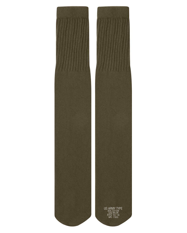 Image of   Rothco G.I. Style Tube Sokker - G.I. Style (Oliven, One Size)