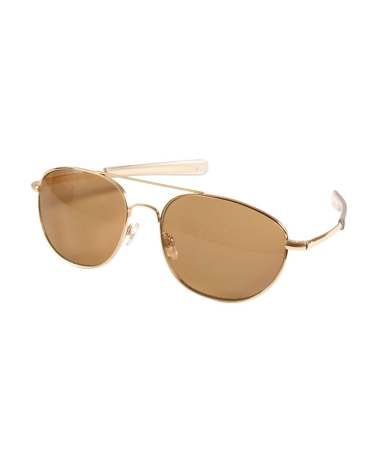 Image of   Rothco G.I. Type Pilot's Aviator Solbrille (Brun, One Size)
