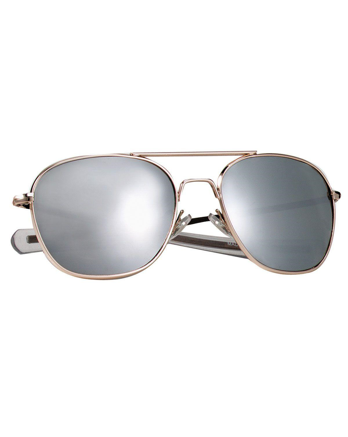 Image of   Rothco G.I. Type Pilot's Aviator Solbrille (Guld m. Spejl, One Size)