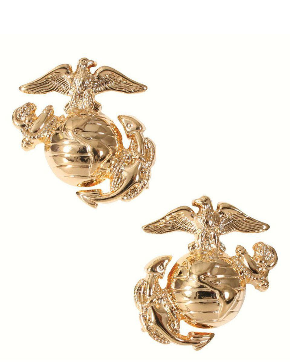 Image of   Rothco Gradtegn til Krave - U.S. Marine Corps Globe & Anchor (Guld, One Size)