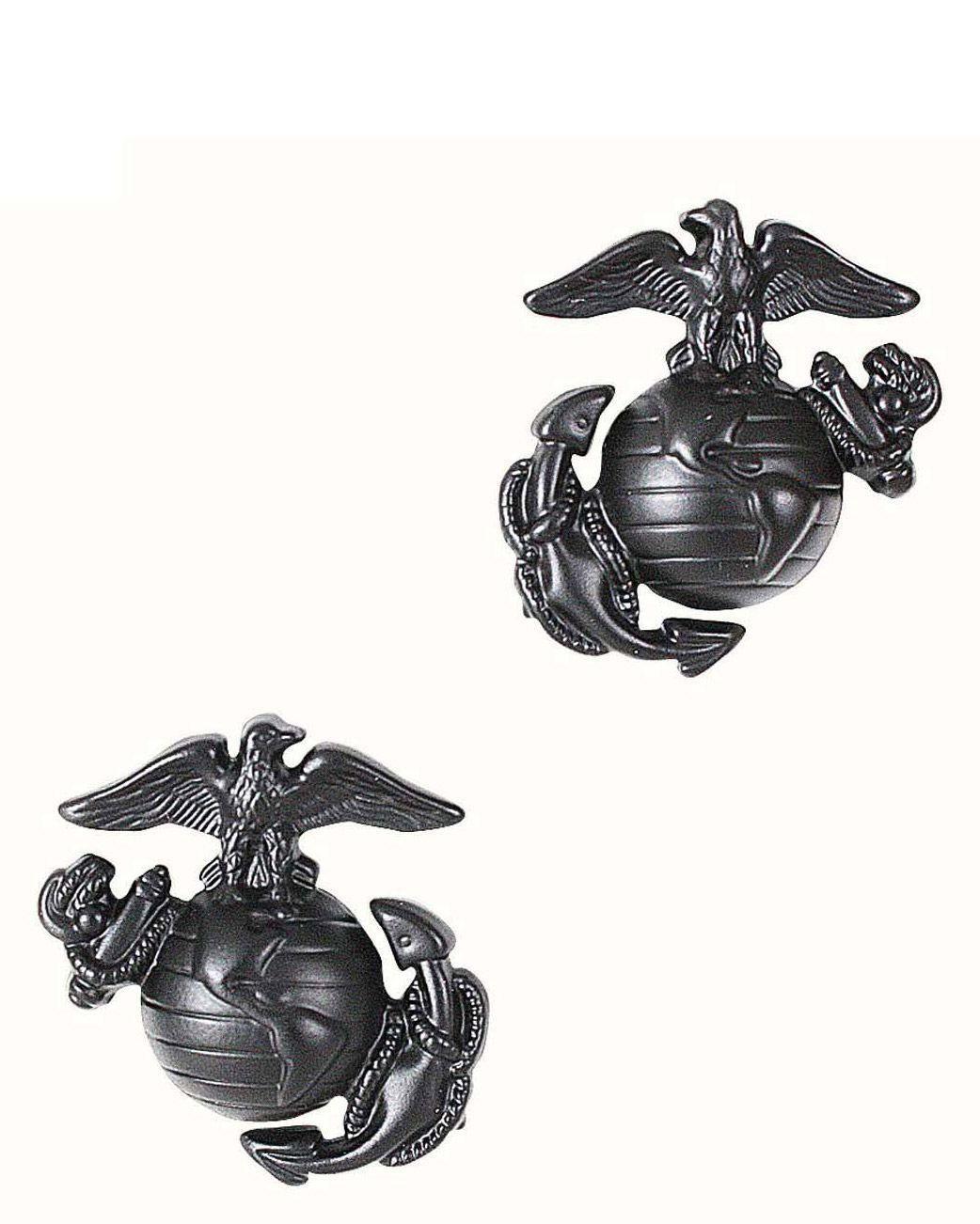 Image of   Rothco Gradtegn til Krave - U.S. Marine Corps Globe & Anchor (Sort, One Size)