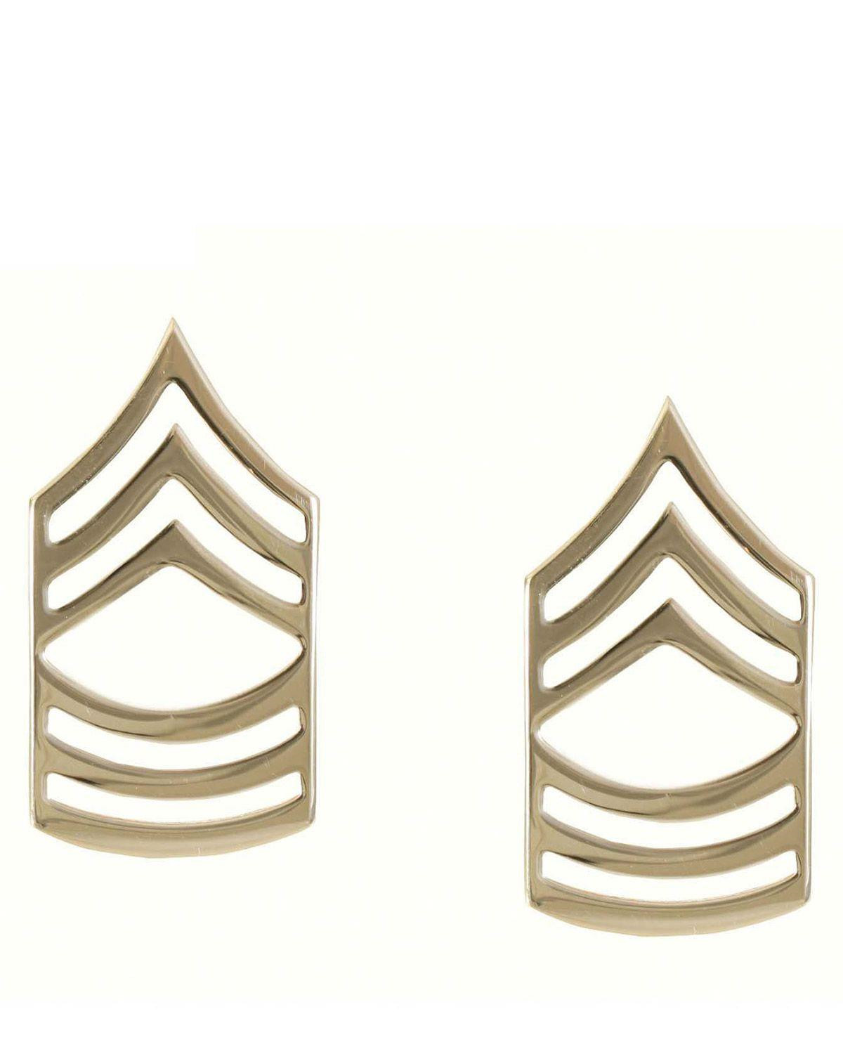Image of   Rothco Gradtegn - U.S. Master Sergeant (Messing, One Size)