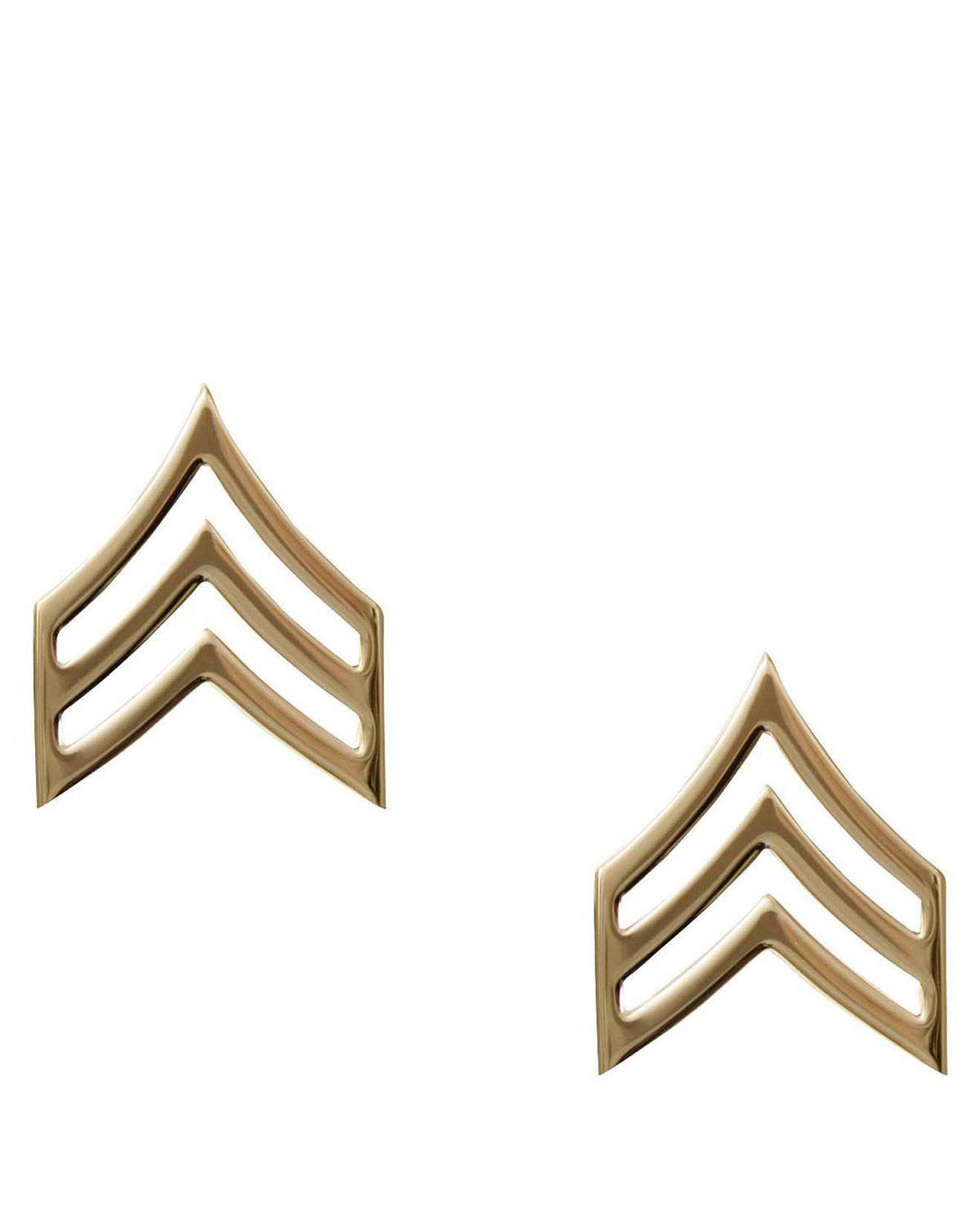 Image of   Rothco Gradtegn - U.S. Sergeant (Guld, One Size)