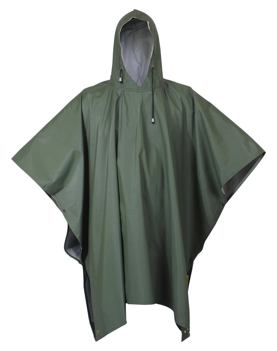 Image of   Rothco Gummi Poncho (Oliven / Gul, One Size)