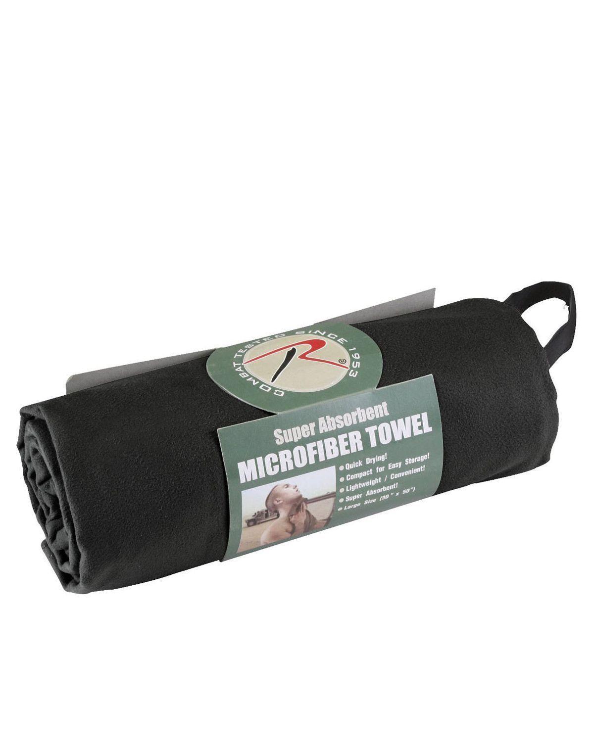 Billede af Rothco Hurtigtørrende håndklæder 75x125cm (Sort, One Size)