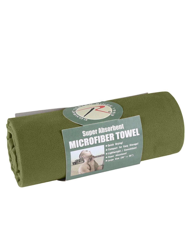 Billede af Rothco Hurtigtørrende håndklæder 75x125cm (Oliven, One Size)