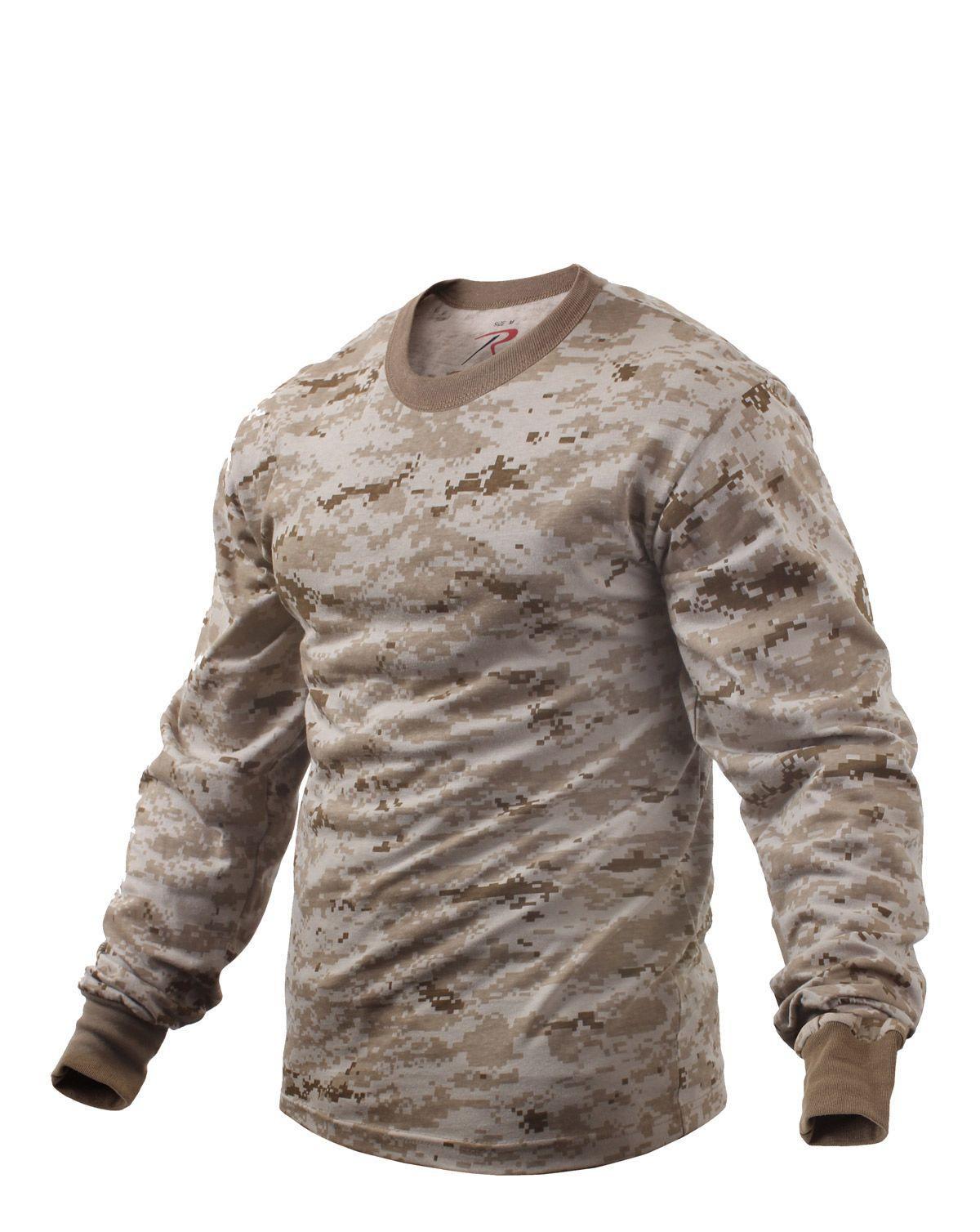 Rothco Långärmad T-shirt (Desert Digital Camo, 3XL)