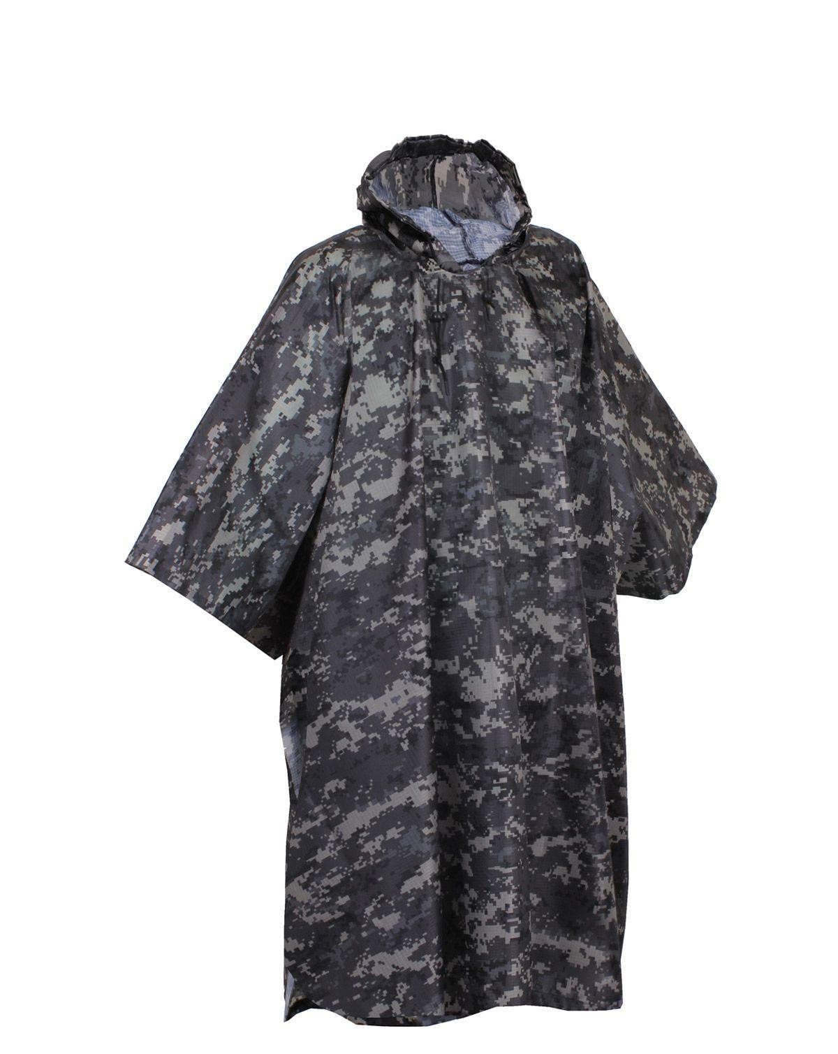 Image of   Rothco Military Poncho - Rip-stop (Dæmpet Urban Digital Camo, One Size)