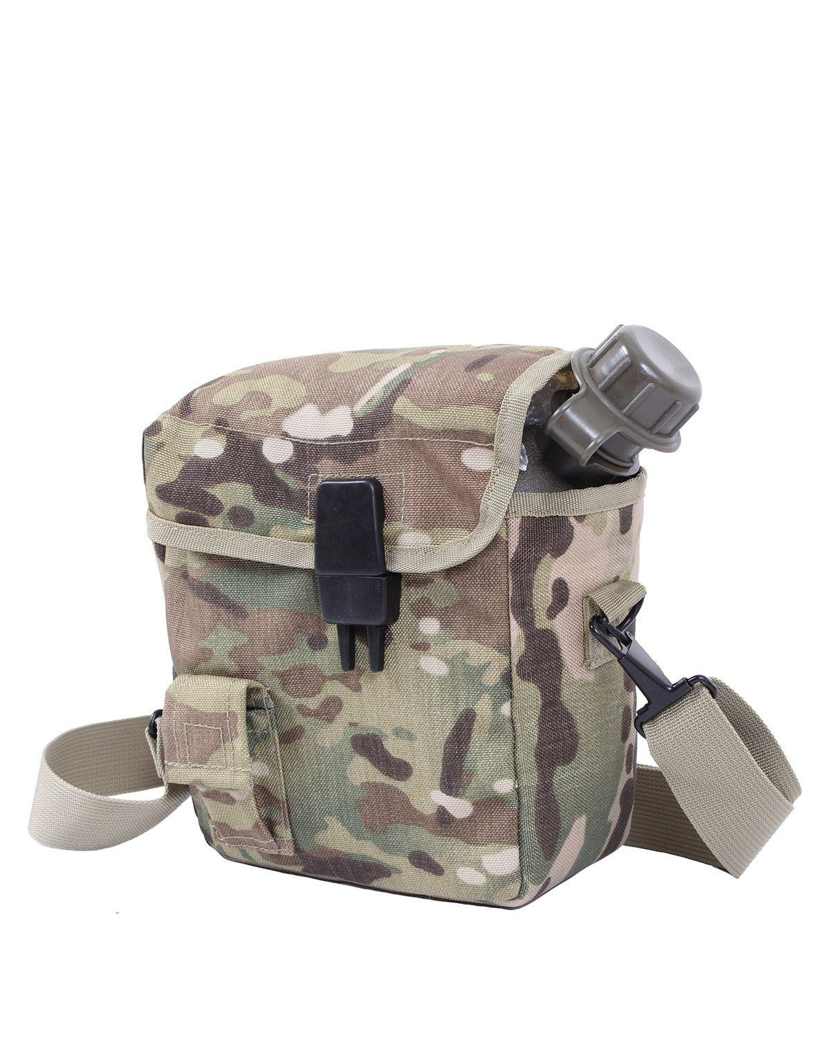 Image of   Rothco MOLLE 2 QT. Bladder Canteen Cover (Multicam, One Size)