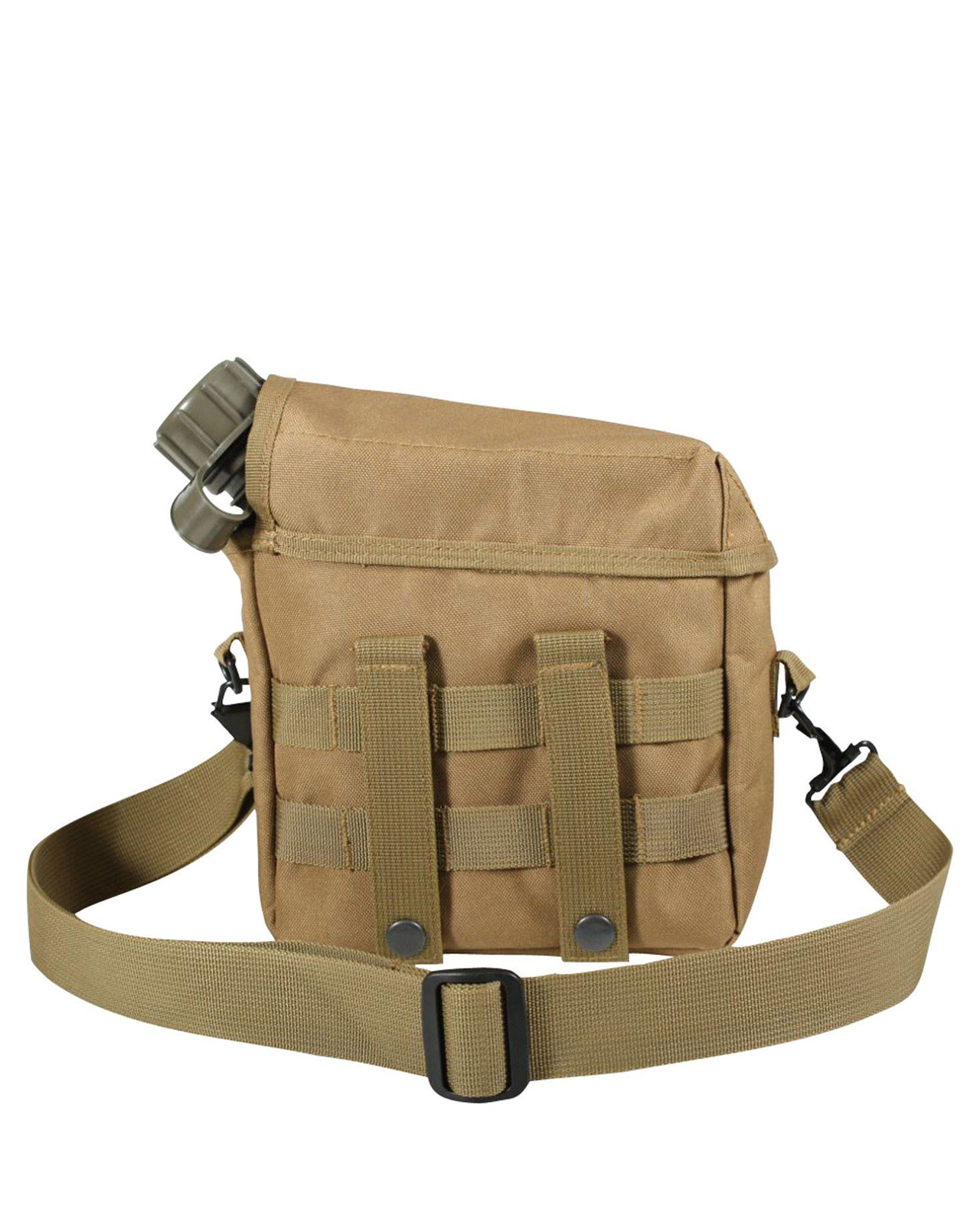 Image of   Rothco MOLLE 2 QT. Bladder Canteen Cover (Coyote Brun, One Size)