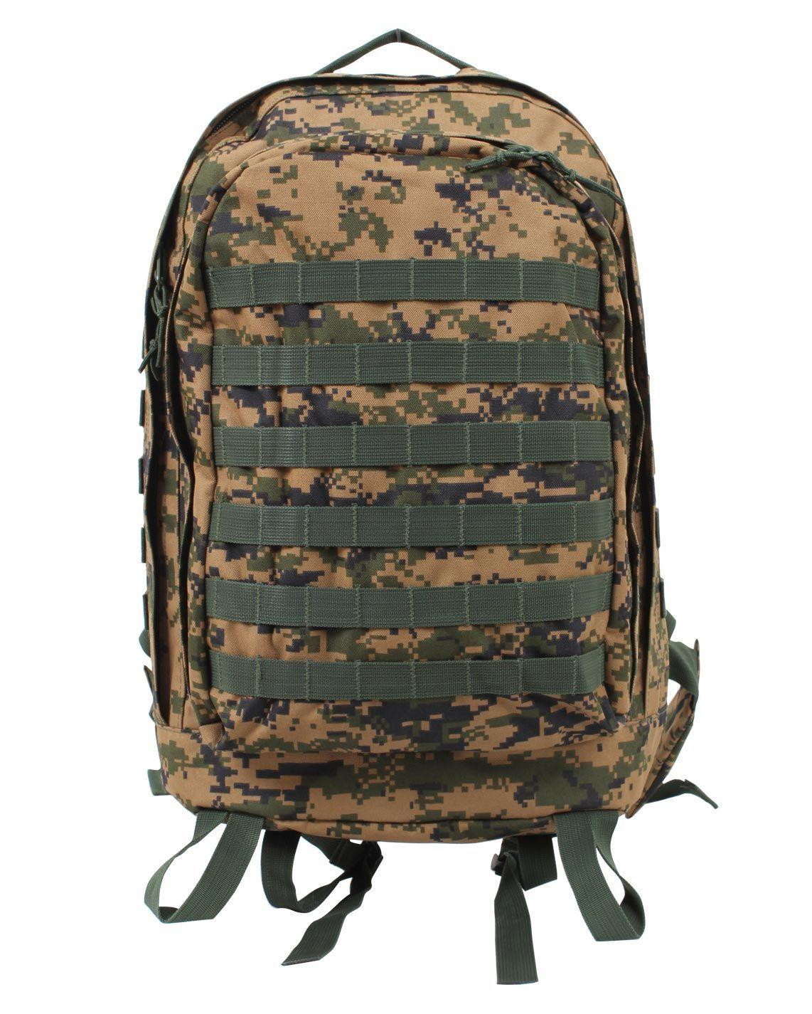 Image of   Rothco MOLLE II 3-Day Assault Pack (Digital Woodland, One Size)