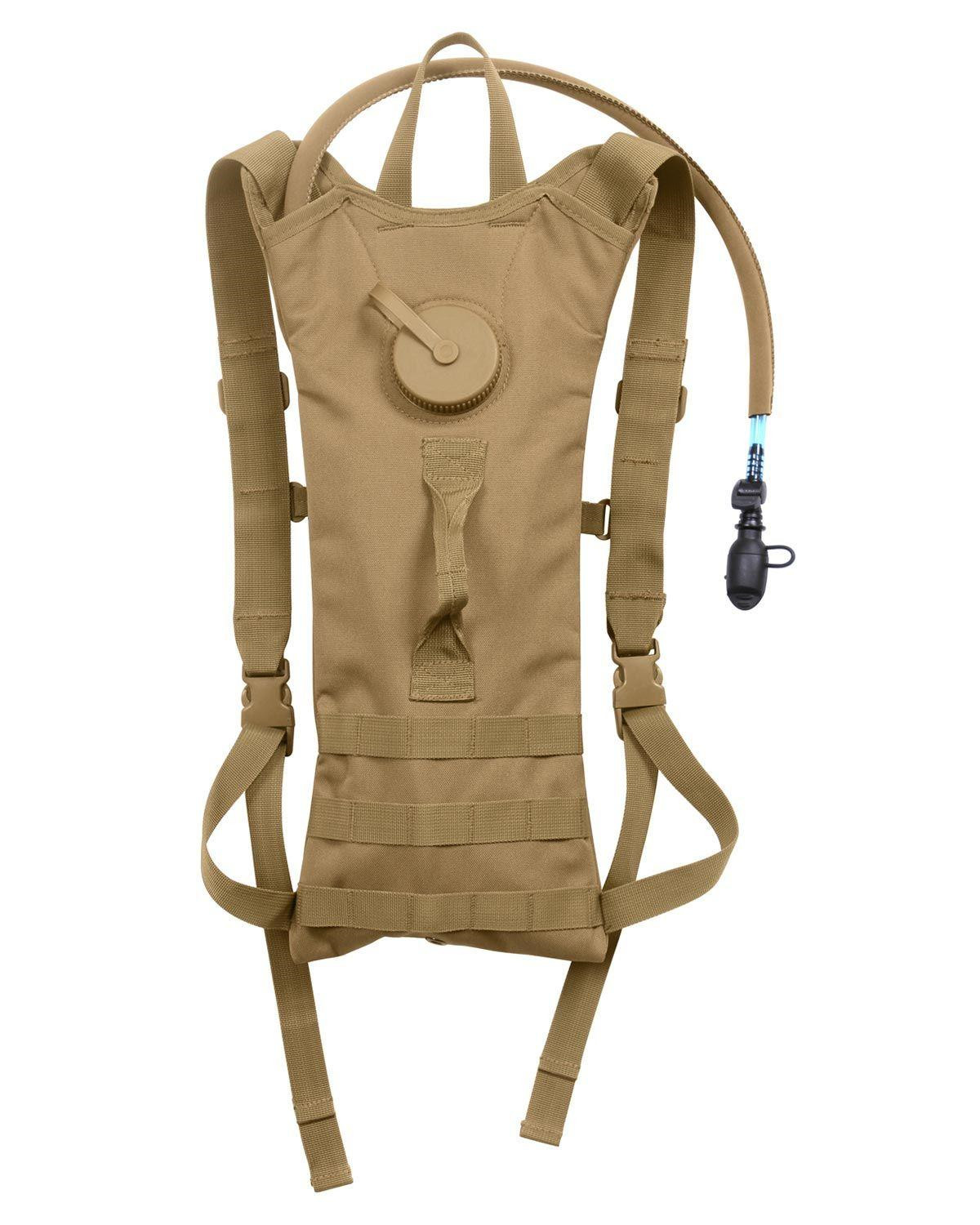Image of   Rothco MOLLE Vandbeholder Hydration Rygsæk - 3 Liter (Coyote Brun, One Size)