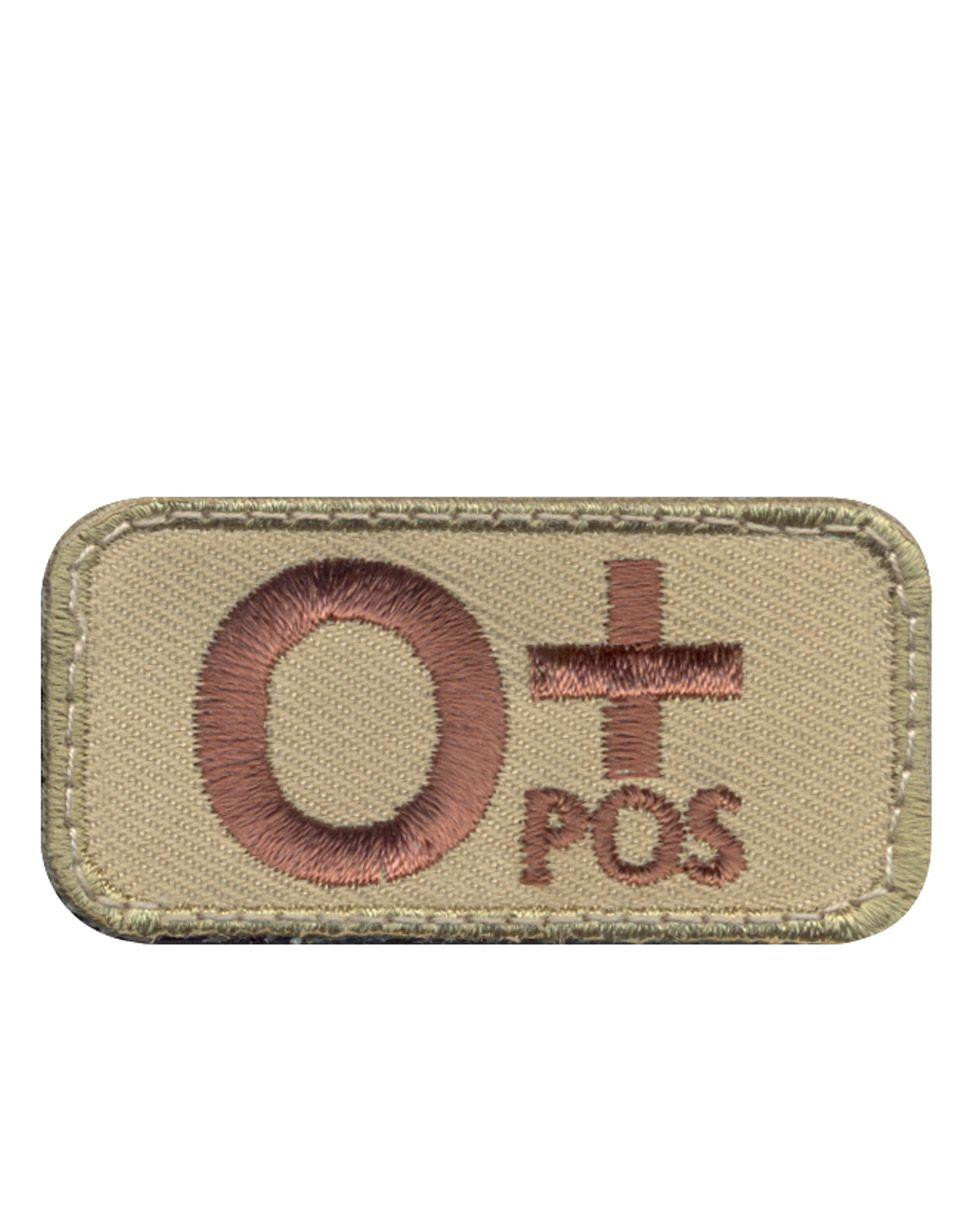 Rothco Moral Patch - Blood Type 0 Positive (Khaki, One Size)