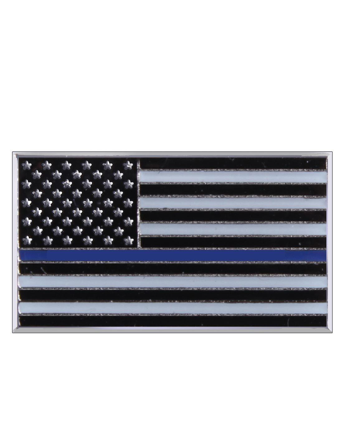 Image of   Rothco Nål/Pin - Thin Blue Line (Sort, One Size)