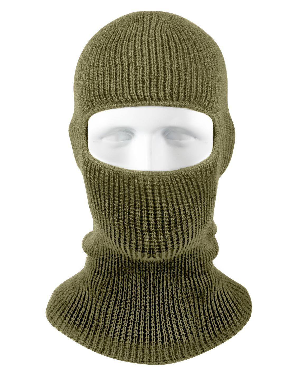 Image of   Rothco One-Hole Balaclava/Face Mask (Oliven, One Size)