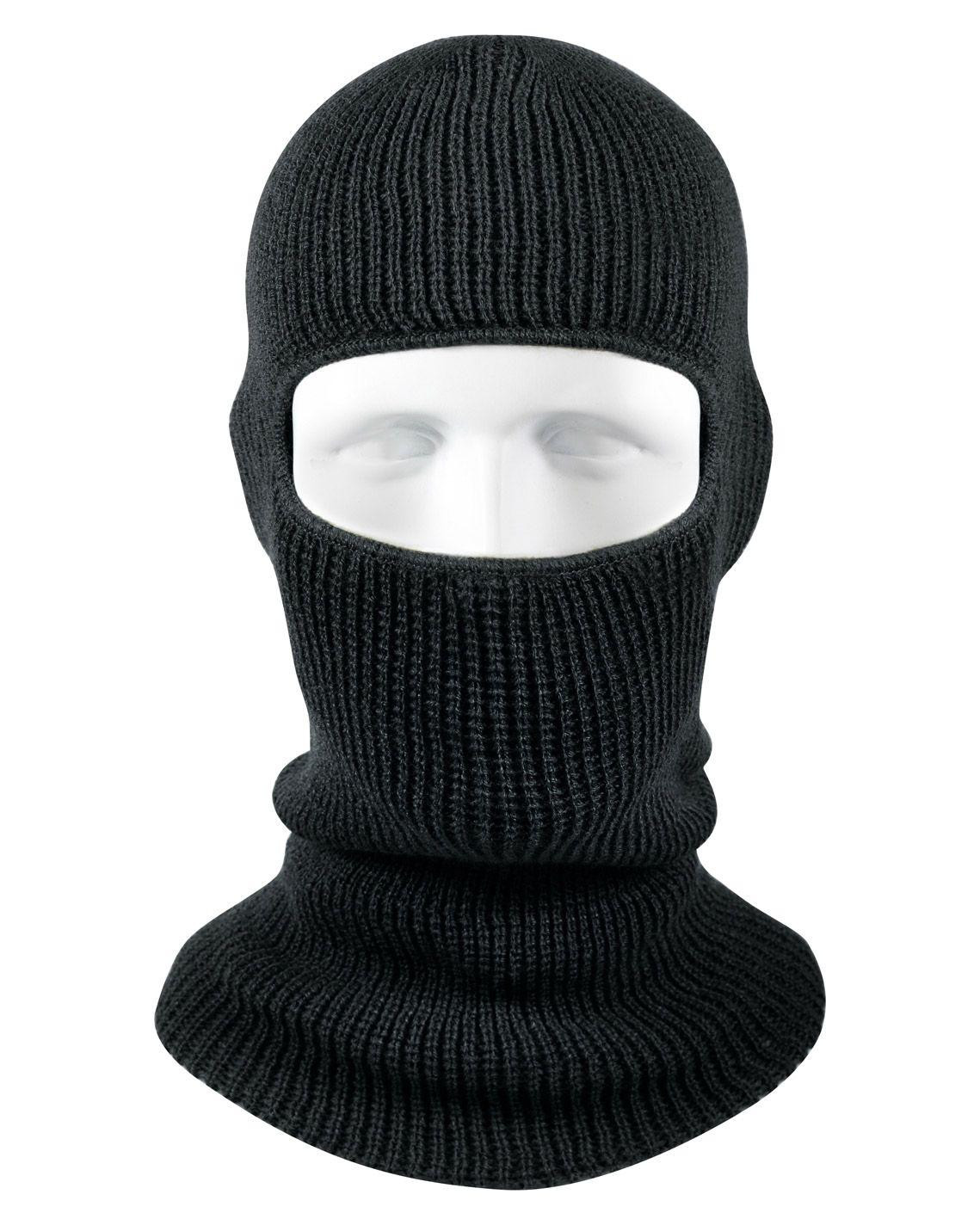 Image of   Rothco One-Hole Balaclava/Face Mask (Sort, One Size)