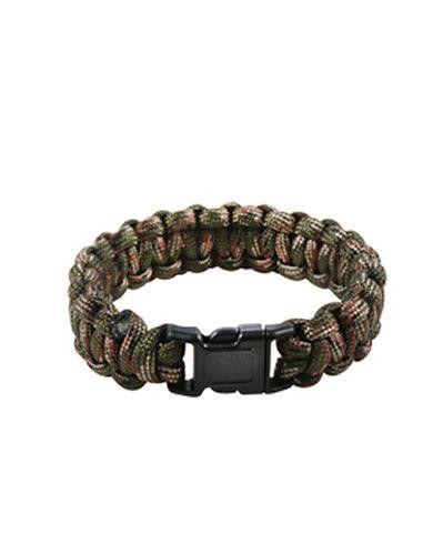 "Image of   Rothco Paracord armbånd (Woodland, 10"" / 25 cm)"
