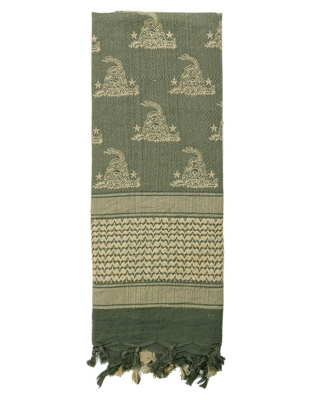 Image of   Rothco Partisan Tørklæde - 'Gadsden Snake Design' (Blad Grøn, One Size)