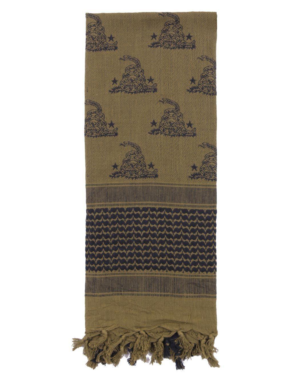 Image of   Rothco Partisan Tørklæde - 'Gadsden Snake Design' (Oliven, One Size)