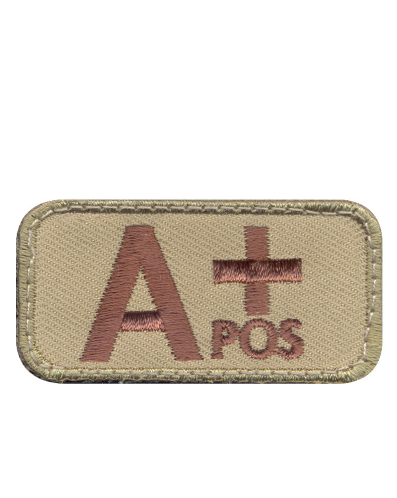 Rothco Patch - 'A Positive Blood Type' (Khaki, One Size)
