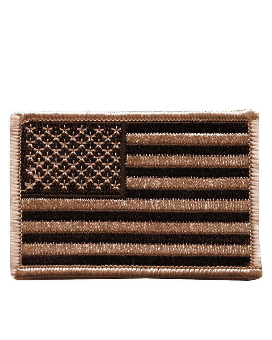 Rothco Patch U.S. Flagga - Strykes/Sys På (Desert Tan, One Size)