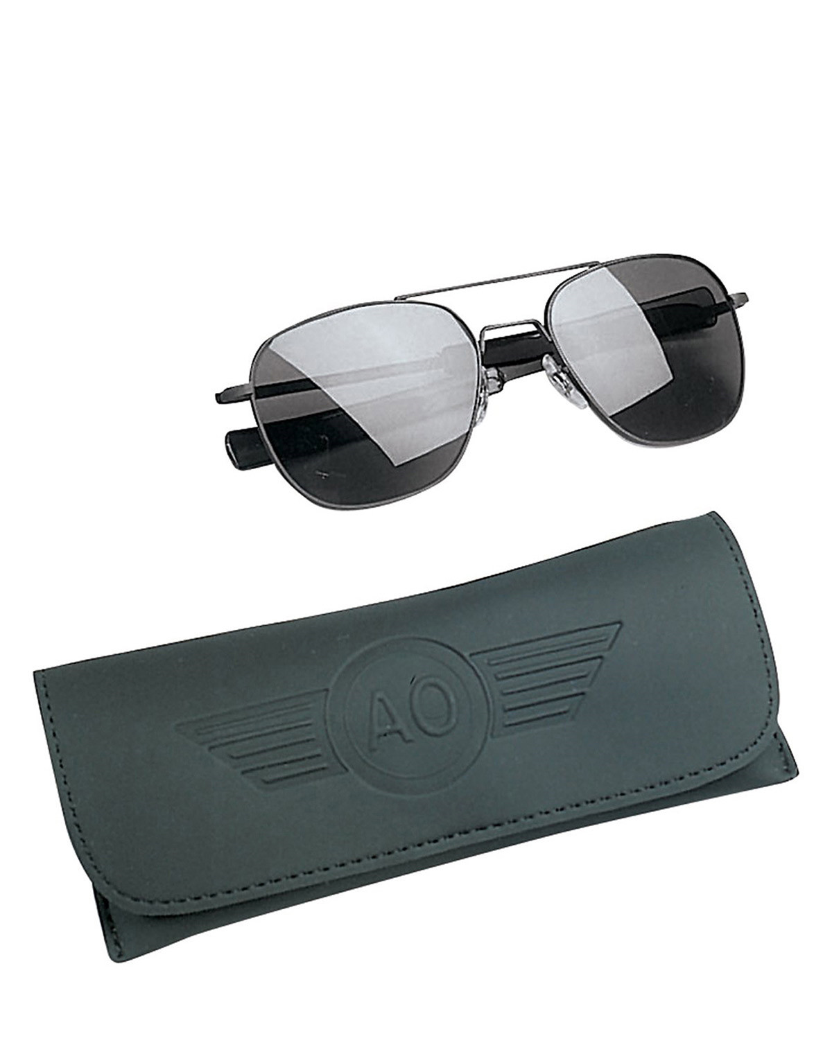 Image of   Rothco Pilots Solbriller American Optical Original (Charcoal / Sort, One Size)