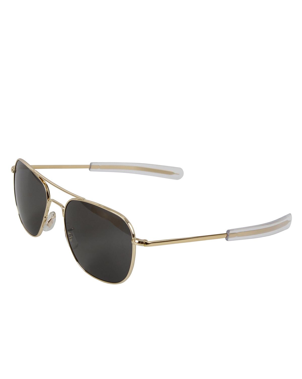 Image of   Rothco Pilots Solbriller American Optical Original (Guld m. Gråt Glas, One Size)