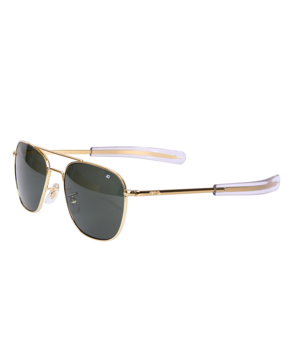 Image of   Rothco Pilots Solbriller American Optical Original (Guld m. Grønt Glas, One Size)