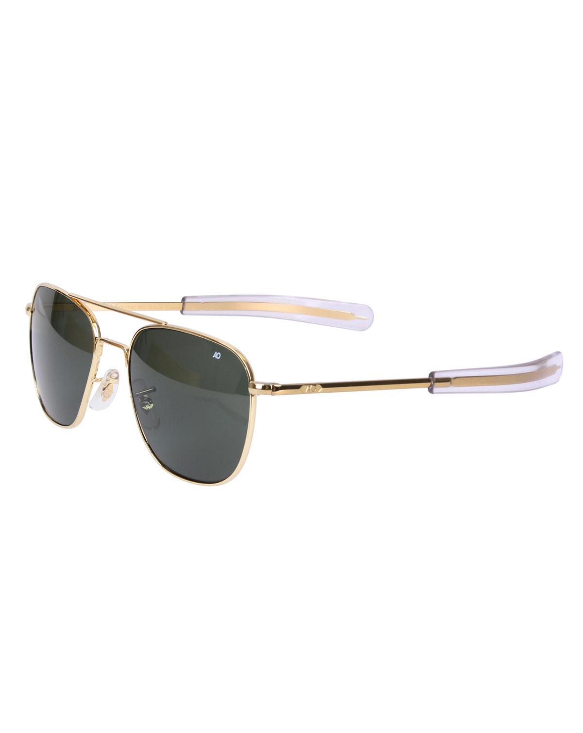 Rothco Pilots Solglasögon American Optical Original (Gold w. Green Lens, 55)