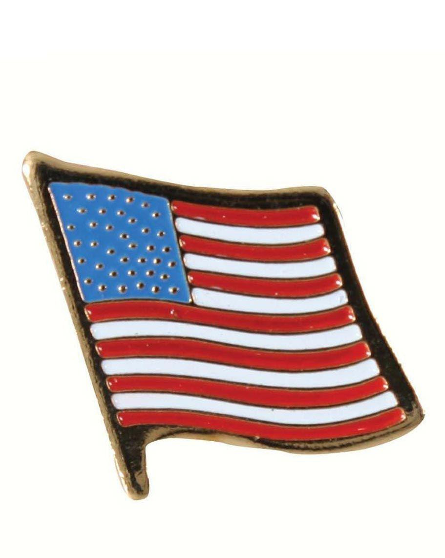 Image of   Rothco Pin - Stars and Stripes (Messing, One Size)
