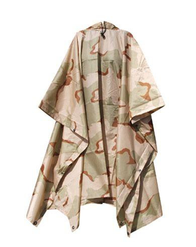 Image of   Rothco Poncho i Ripstop (Tri-Color, One Size)