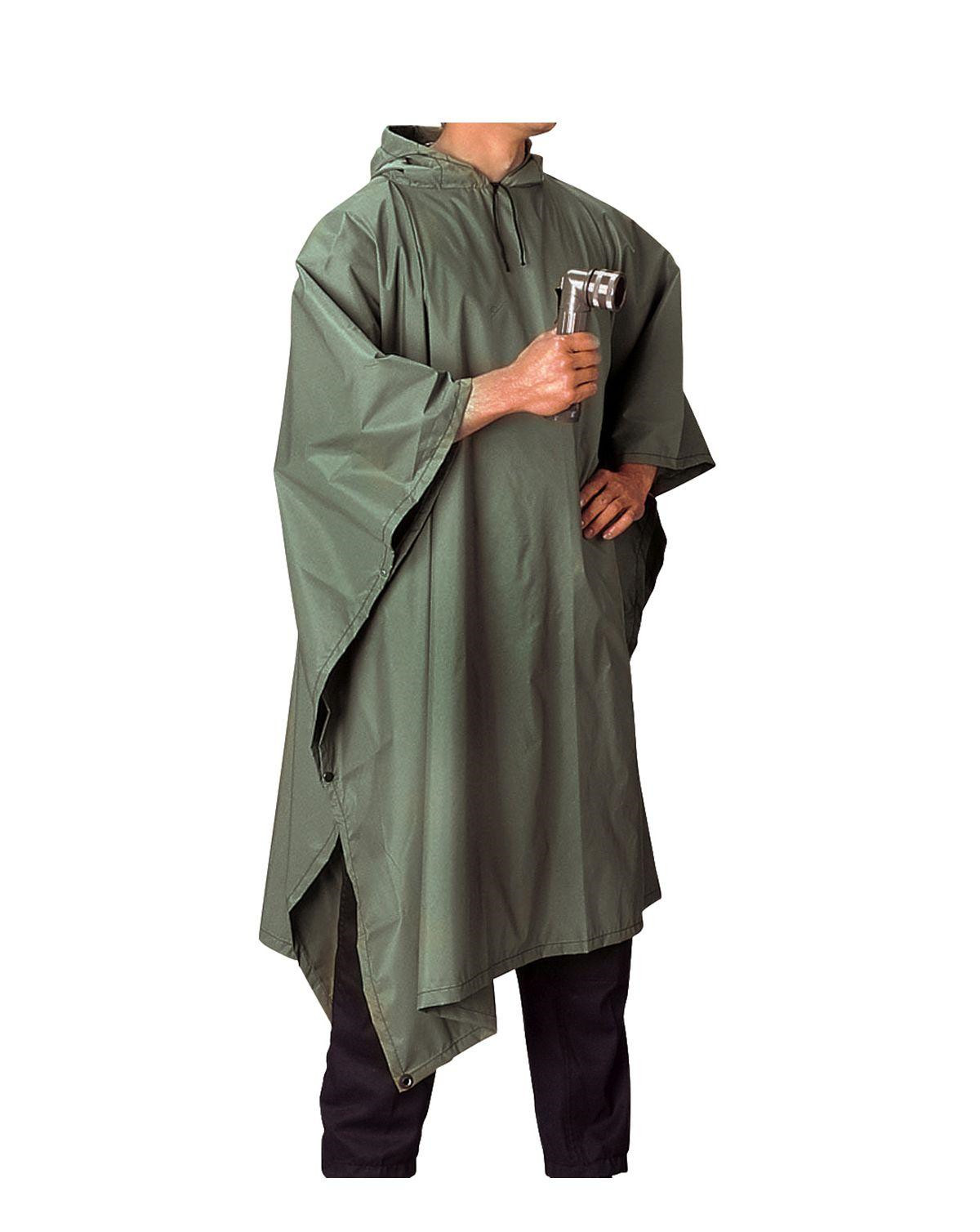 Image of   Rothco Poncho i Ripstop (Oliven, One Size)
