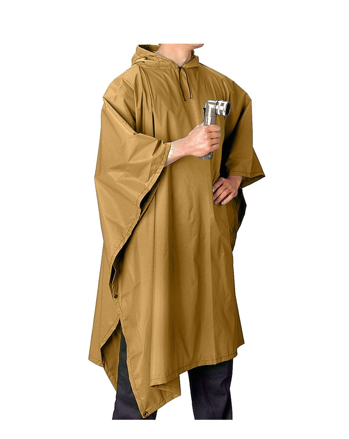 Image of   Rothco Poncho i Ripstop (Coyote Brun, One Size)