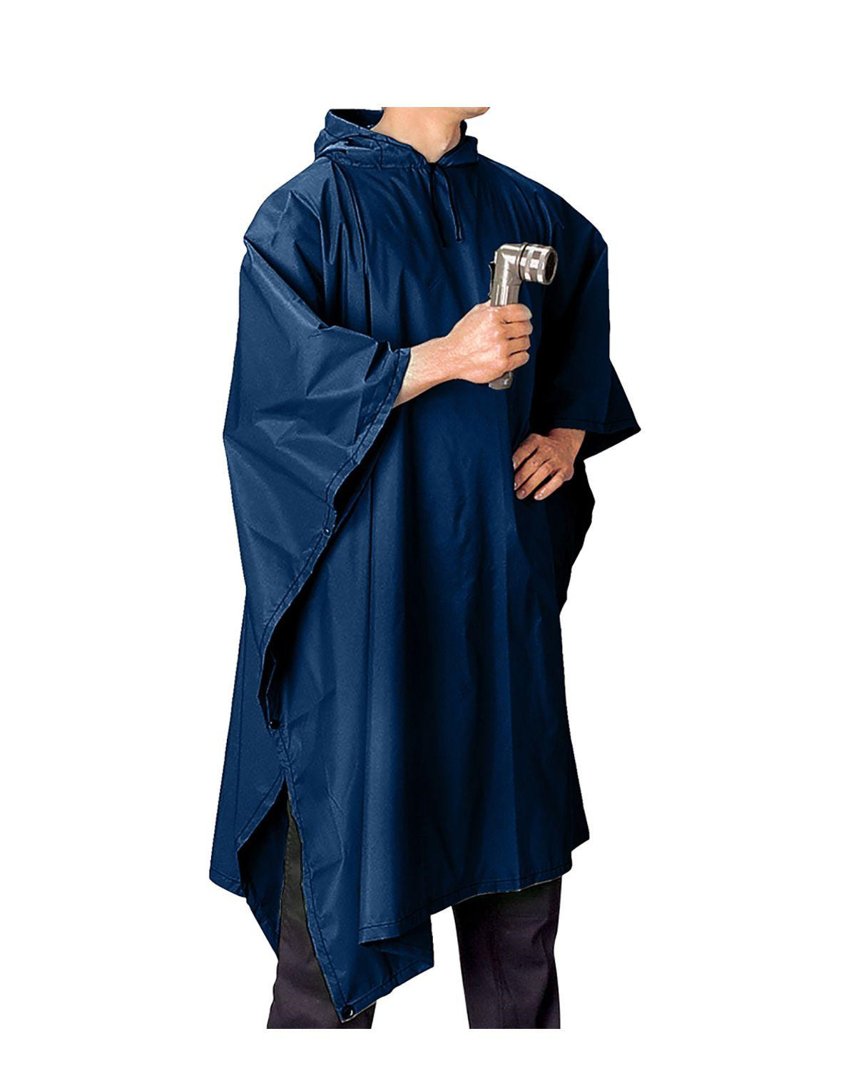 Image of   Rothco Poncho i Ripstop (Navy, One Size)